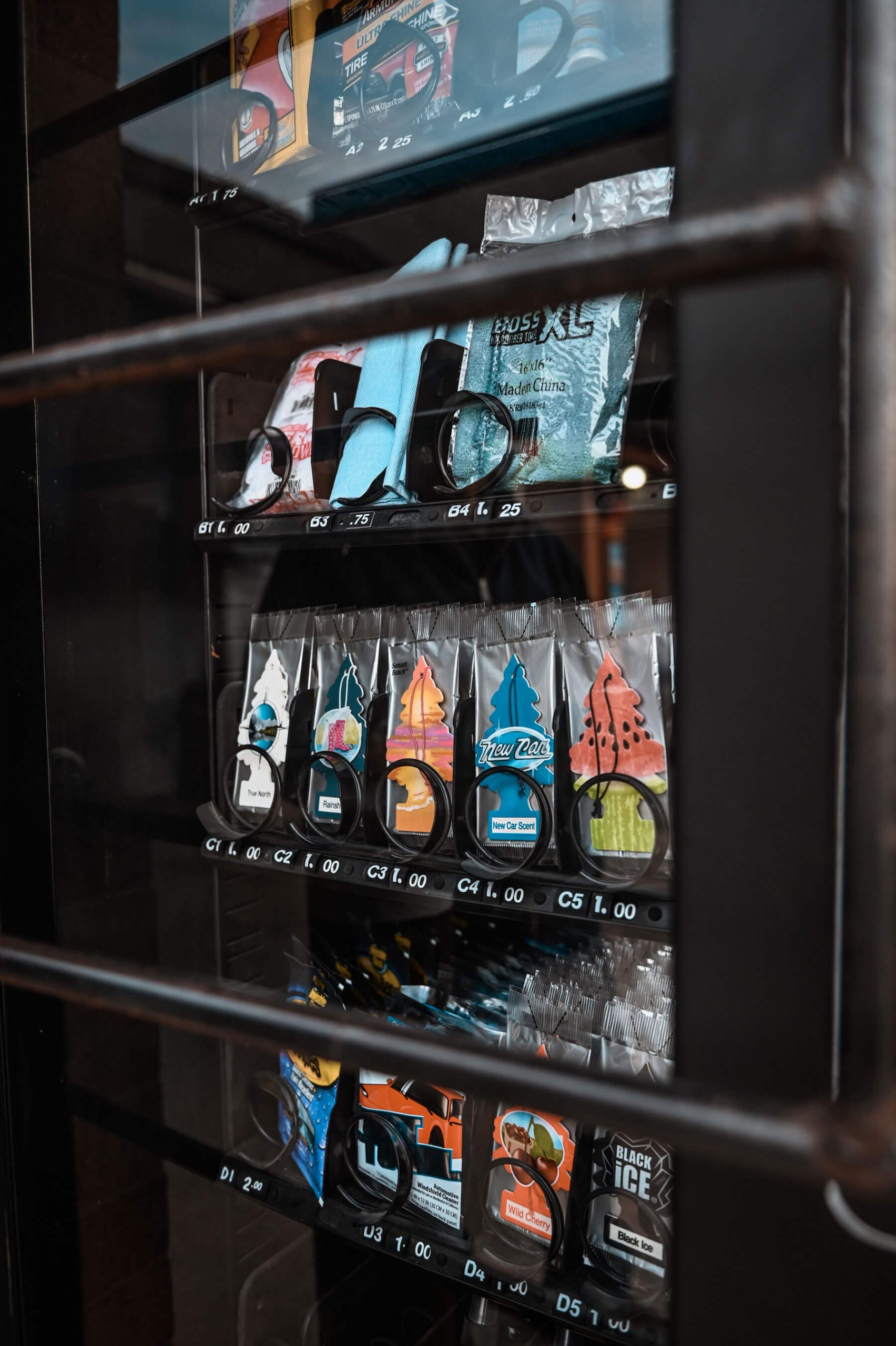 vending machine with carwash supplies