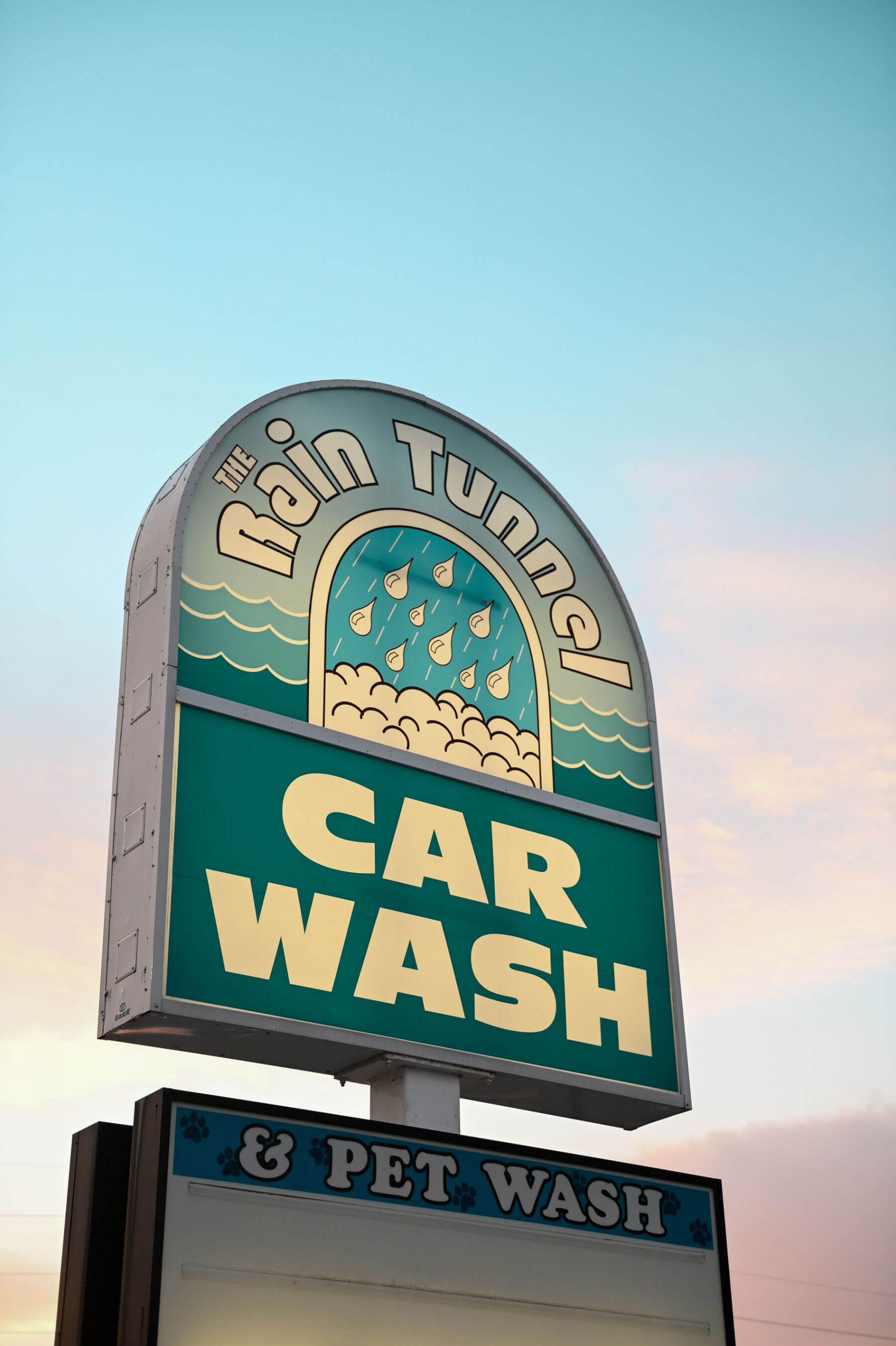 carwash sign